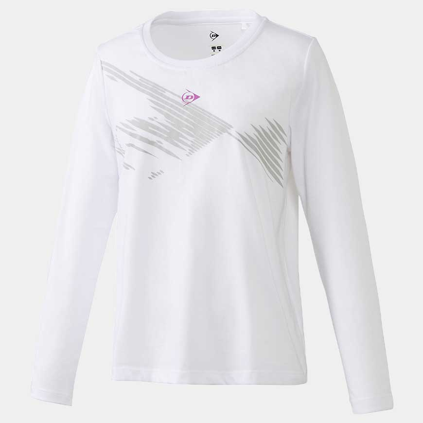 Club Long Sleeve Shadow - Women,White
