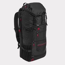 SX Casual Sporty Long Backpack,Black / Red